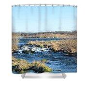 Spillway Panorama Shower Curtain