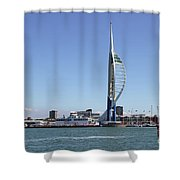 Spinnaker Tower Portsmouth England Shower Curtain