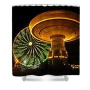 Spinning Fair Fun Shower Curtain
