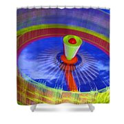 Spinning Fair Ride Shower Curtain