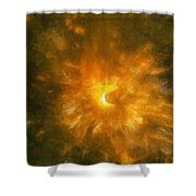 Spinning Firecracker And Bright Colors Shower Curtain