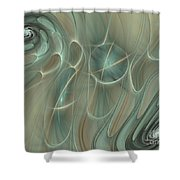 Spinning Galaxies Shower Curtain