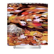 Spinning Leaves Of Autumn Shower Curtain