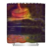 Spinning Light Shower Curtain