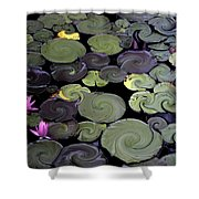 Spinning Lilies Shower Curtain