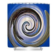 Spinning The Day Away Shower Curtain