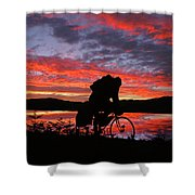Spinning The Wheels Of Fortune Shower Curtain