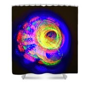 Spinning Universe Light Painting Shower Curtain