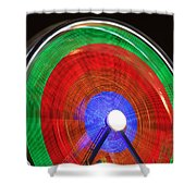 Spinning Wheels Shower Curtain