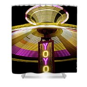 Spinning Yoyo Ride Shower Curtain