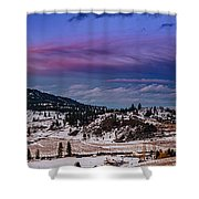 Spion Kop In Winter Shower Curtain by Rod Sterling