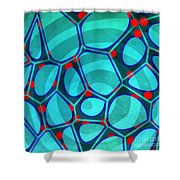 Spiral 4 - Abstract Painting Shower Curtain