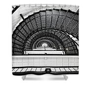 Spiral Ascent Shower Curtain