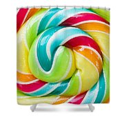 Spiral Candy  Shower Curtain