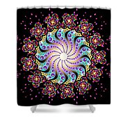 Spiral Dance Shower Curtain