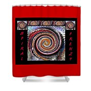 Spiral Frenzy Poster Shower Curtain