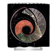 Spiral Glass Stairs Shower Curtain