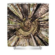 Spiral Of Forest Shower Curtain