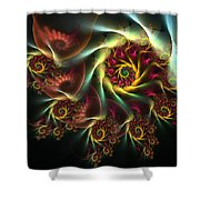 Spiral Of Riches Shower Curtain