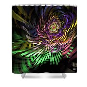 Spiral Rainbow Shower Curtain
