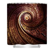 Spiral Staircase In An Old Abby Shower Curtain