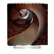Spiral  Staircase In An Old Lighthouse Shower Curtain