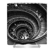 Spiral Stairs Horizontal Shower Curtain