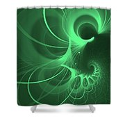 Spiral Thoughts Green Shower Curtain