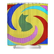 Spiral Three Shower Curtain