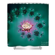 Spiral To A Rose Fractal 140 Shower Curtain