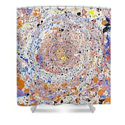 Spiral Vibrations And Movement Shower Curtain
