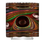 Spiral Warp Shower Curtain