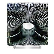 Spiral Wire Bridge Shower Curtain