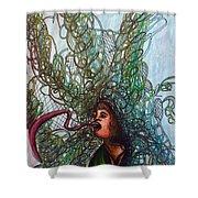 Spiraled Shower Curtain