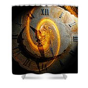 Spiraling Through Time Shower Curtain