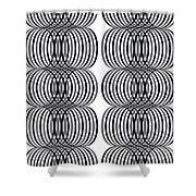 Spirals_01 Shower Curtain