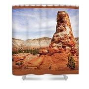 Spire Rocks At Kodachrome Basin State Park Shower Curtain