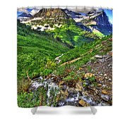 Spires And Stream Shower Curtain