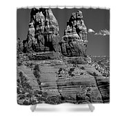 Spires Shower Curtain by Gary Lengyel
