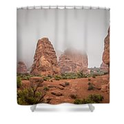 Spires In The Mist Shower Curtain