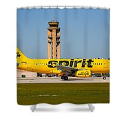 Spirit Airline Shower Curtain