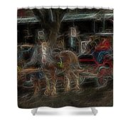 Spirit Carriage 3 Shower Curtain