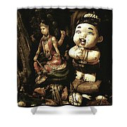 Spirit Cemetery. When A Business Or Shower Curtain