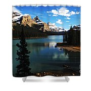 Spirit Island Jasper Canada Shower Curtain
