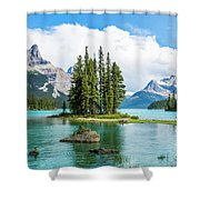 Spirit Island, Jasper National Park Shower Curtain