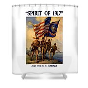 Spirit Of 1917 - Join The Us Marines  Shower Curtain