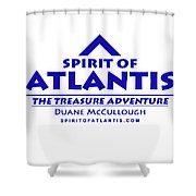 Spirit Of Atlantis Logo Shower Curtain