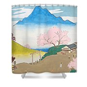 Spirit Of Shinto And Ukiyo-e In The Light Of Nature Shower Curtain