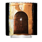 Spirit Of The Alamo With Framing Shower Curtain