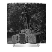 Spirit Of The Confederacy Black And White Shower Curtain